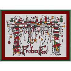 Stickvorlage Dangles Weihnacht