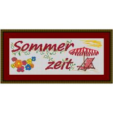Stickvorlage Sommerzeit