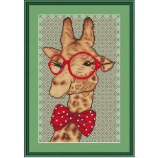 Stickvorlage Giraffenmini