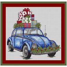 Stickvorlage Geschenkeauto