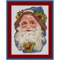 Stickvorlage Nostalgischer Weihnachtskopf