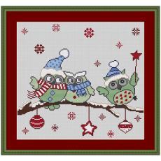 Stickvorlage Weihnachtseulen