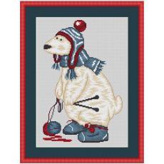 Stickpackung Eisbär Wollmütze