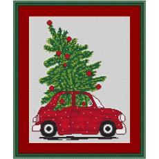 Stickpackung Weihnachtsauto