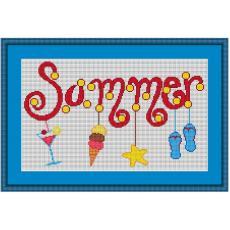 Stickvorlage Sommer