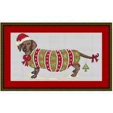 Stickpackung Dackel Weihnachtsdackel