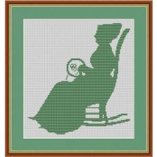 Stickvorlage Stickerin (grün)