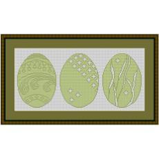 Stickvorlage 3 Ostereier