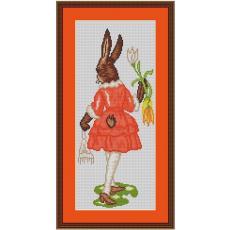 Stickvorlage Hasenmädchen