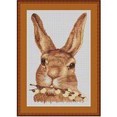Stickvorlage Hasenporträt