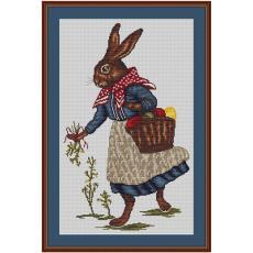 Stickvorlage Hasenfrau
