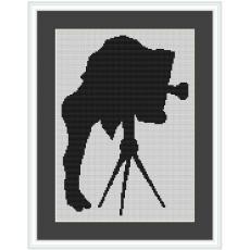 Stickvorlage Fotograf antik