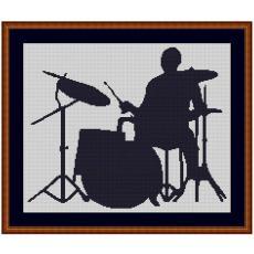 Stickvorlage Schlagzeuger