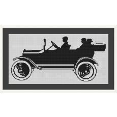 Stickvorlage Automobil 1
