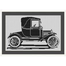 Stickvorlage Automobil 3