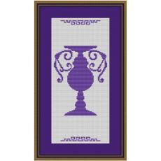 Stickvorlage Pokal