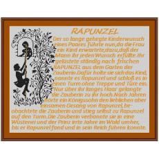 Stickvorlage Rapunzel