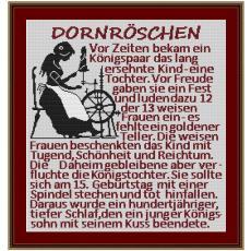 Stickvorlage Dornröschen