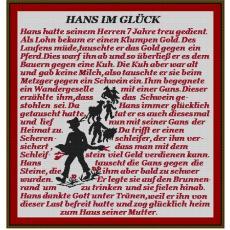 Stickvorlage Hans im Glück