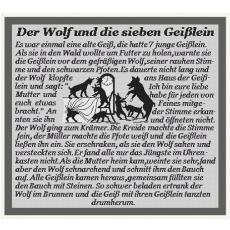Stickvorlage Der Wolf und die 7 Geißlein