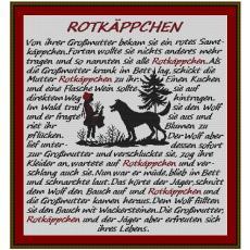 Stickvorlage Rotkäppchen