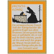 Stickvorlage Froschkönig