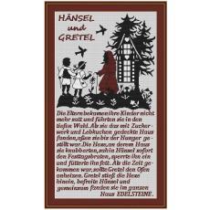 Stickvorlage Hänsel und Gretel