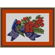 Stickvorlage Blumenschleife