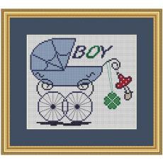Stickvorlage Geburt Boy