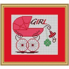 Stickvorlage Geburt Girl