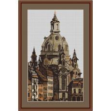 Stickvorlage Frauenkirche