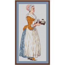 Stickvorlage Schokoladenmädchen Gemälde