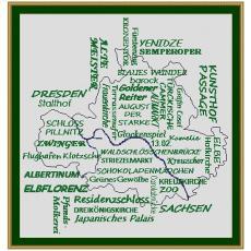 Stickvorlage Begriffe Dresden