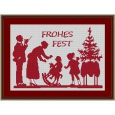 Stickvorlage Weihnachtsfest