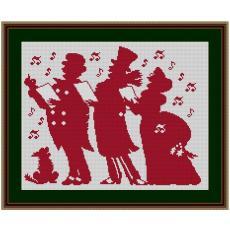 Stickvorlage Christmassinger