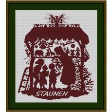 Stickvorlage Weihnachtsgeschenk