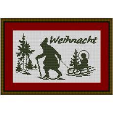 Stickvorlage Weihnachtsgruß