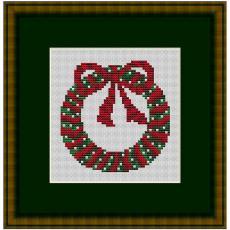 Stickpackung Weihnachtskranz