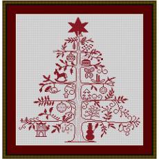 Stickpackung Weihnachtsbaum