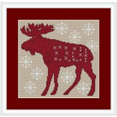 Stickpackung Weihnachtselch 2