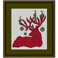Stickpackung Weihnachtselch 3