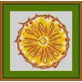 Stickvorlage Ananas