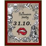 Stickvorlage Halloweenplaid
