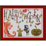 Stickvorlage Dangles Halloween