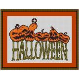Stickvorlage Kürbisse Halloween