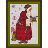 Stickvorlage Historischer Nikolaus