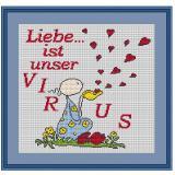 Stickvorlage Liebesvirus