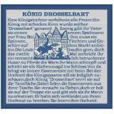 "Stickvorlage König""Drosselbart"""