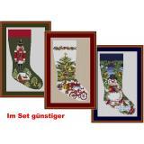 Weihnachtsstiefel ( 3 Stickpackungen)
