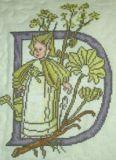 Blumenalphabet D